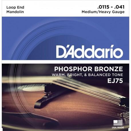 D'addario - EJ75 MANDOLIN STRINGS PHOSPHOR BRONZE MEDIUM/HEAVY [11.5-41] 1