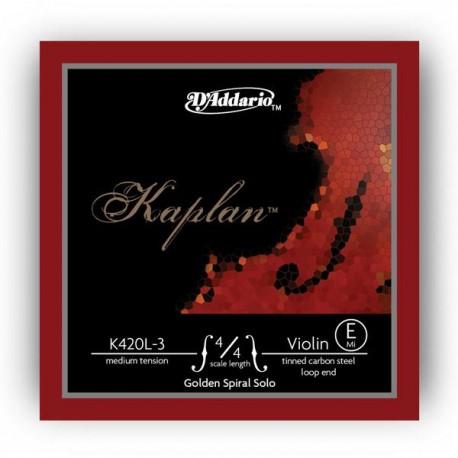 Dáddario Orchestral - K420L-3 KAPLAN GOLDEN SPIRAL SOLO - MI (BUCLE) 1