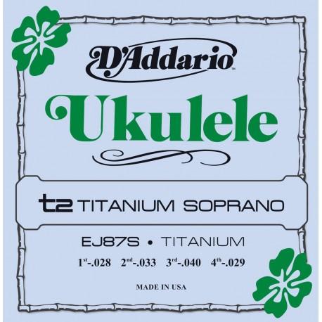 D'addario - EJ87S TITANIUM UKULELE SOPRANO 1