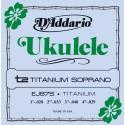 D'addario - EJ87S TITANIUM UKULELE SOPRANO