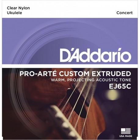 D'addario - EJ65C PRO-ARTÉ CUSTOM EXTRUDED NYLON UKULELE STRINGS, CONCERT 1