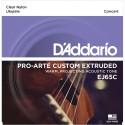 D'addario - EJ65C PRO-ARTÉ CUSTOM EXTRUDED NYLON UKULELE STRINGS, CONCERT