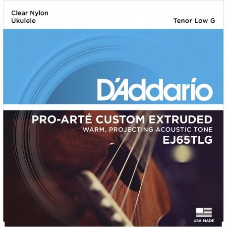 D'addario - EJ65TLG PRO-ARTÉ CUSTOM EXTRUDED NYLON UKULELE STRINGS, TENOR LOW-G 1